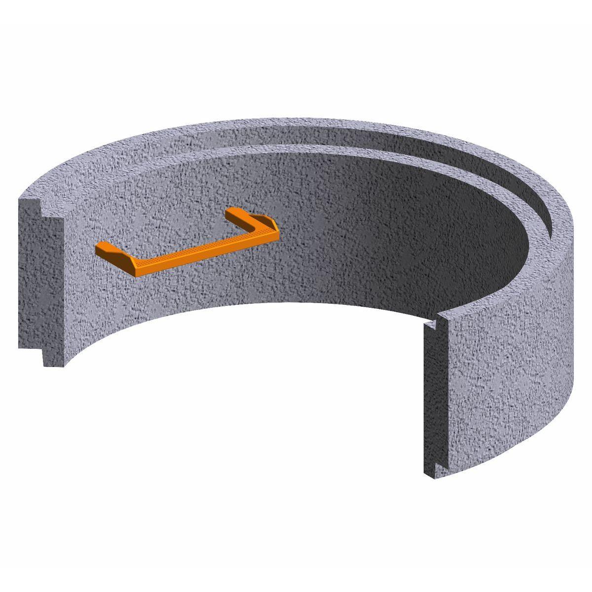 Anneau préfabriqué en béton pour puits100x30