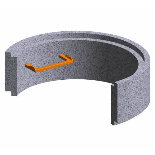 Premanufactured ring of concrete for wells 100x30