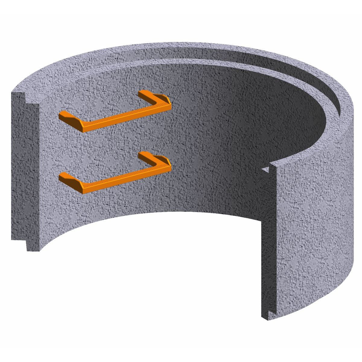 Premanufactured ring of concrete for wells 100x50