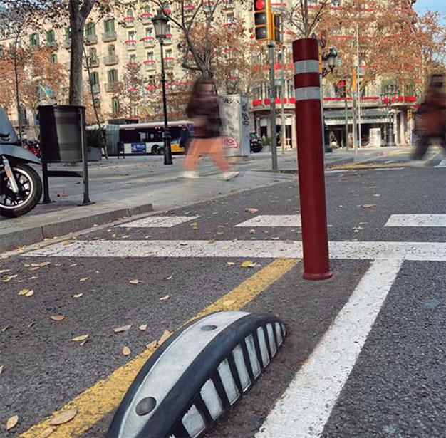 3 elementos de equipamiento urbano que mejoran la seguridad vial
