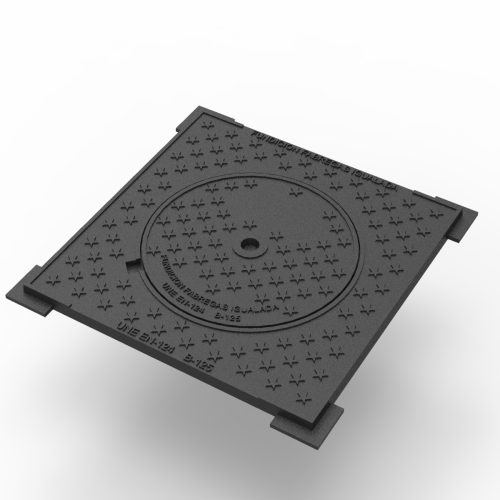 Campsa trap door Manhole cover and framer sidewalk waters and gully grating traps B-14D