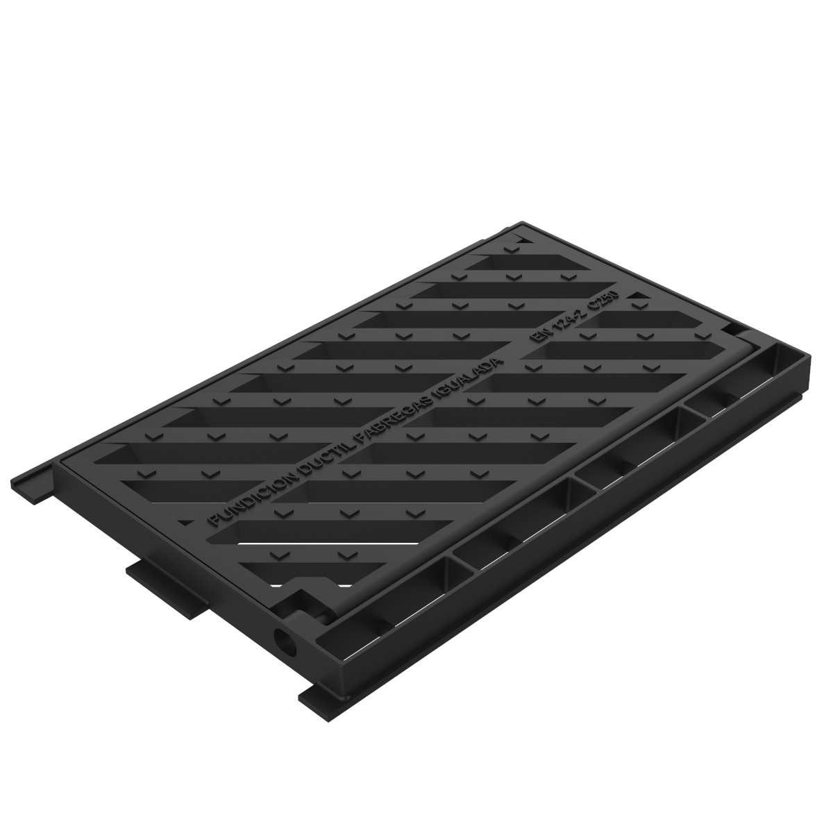 Integrale grate and frame, folding scupper of casting B-19AD