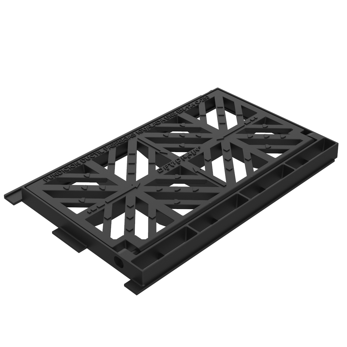 Optidrain folding scupper grate and frame of ductile casting B-19ADO