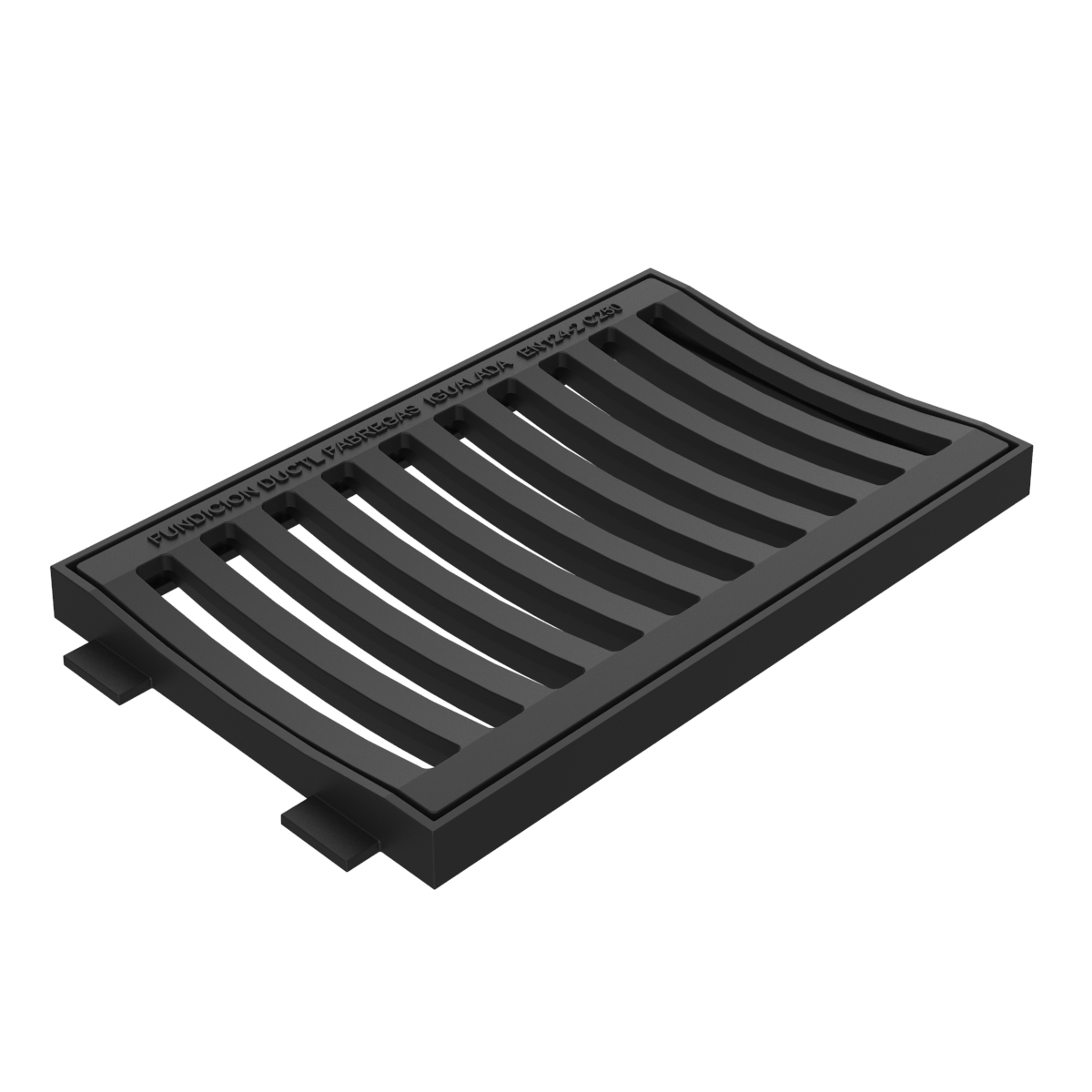 Concave scupper grate and frame of ductile casting B-22BD