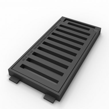Norte folding scupper grate and frame of ductile casting B-22N