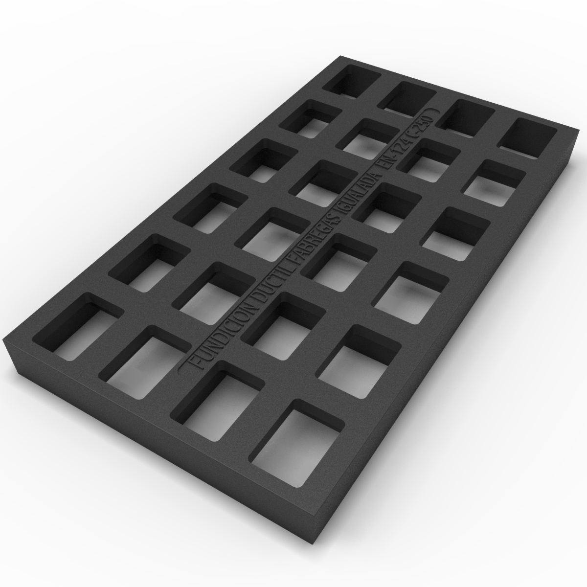 Water cut grate in casting B-30ID