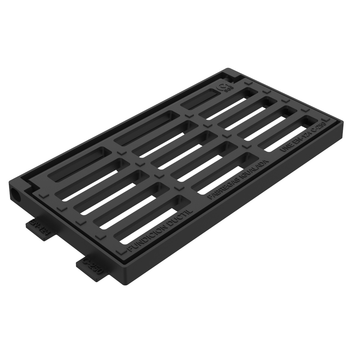 Portofino folding scupper grate and frame of casting B-31D