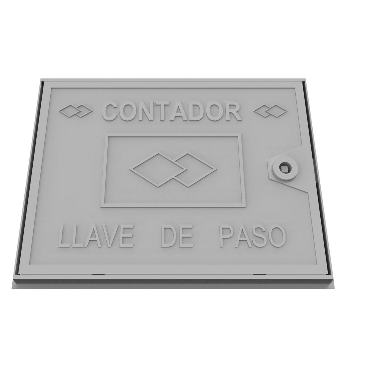 Aluminium wall trap door. Stopcock counter B-41C