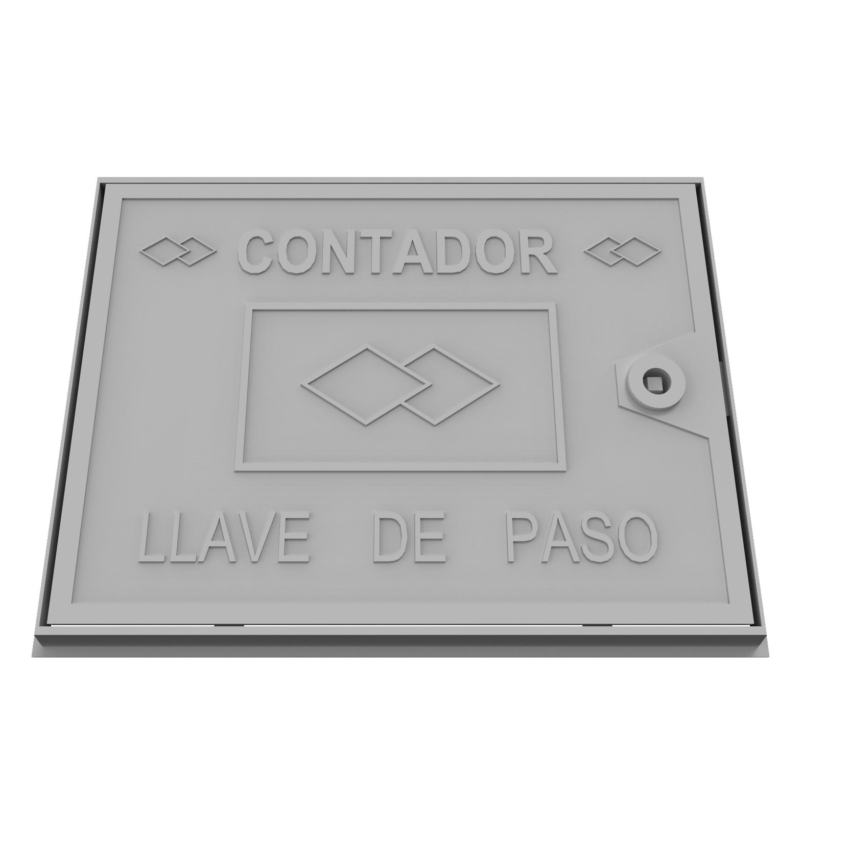 Aluminium wall trap door. Stopcock counter B-41P