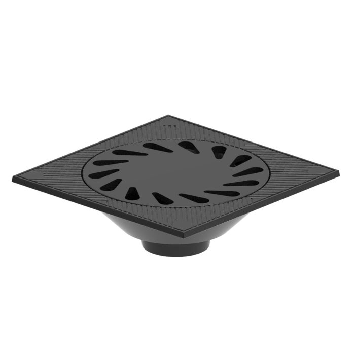 Syphonic gully grating trap of ductile casting for waters B-54