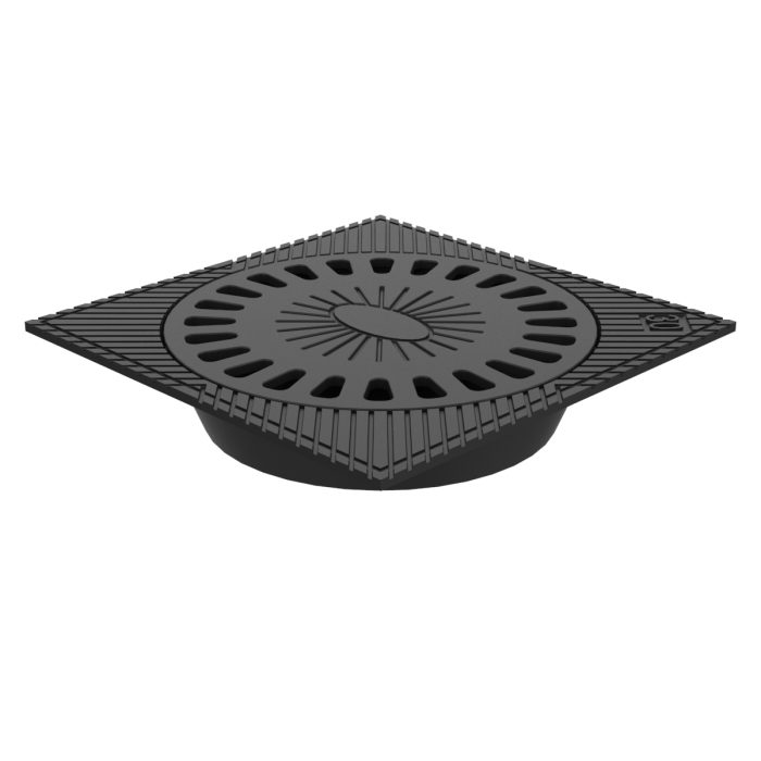 Syphonic gully grating trap of ductile casting for waters B-55