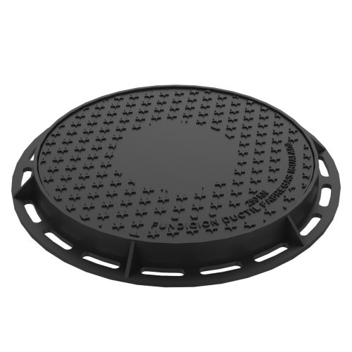 Round Manhole cover and ring of registry in ductile casting B-6DU