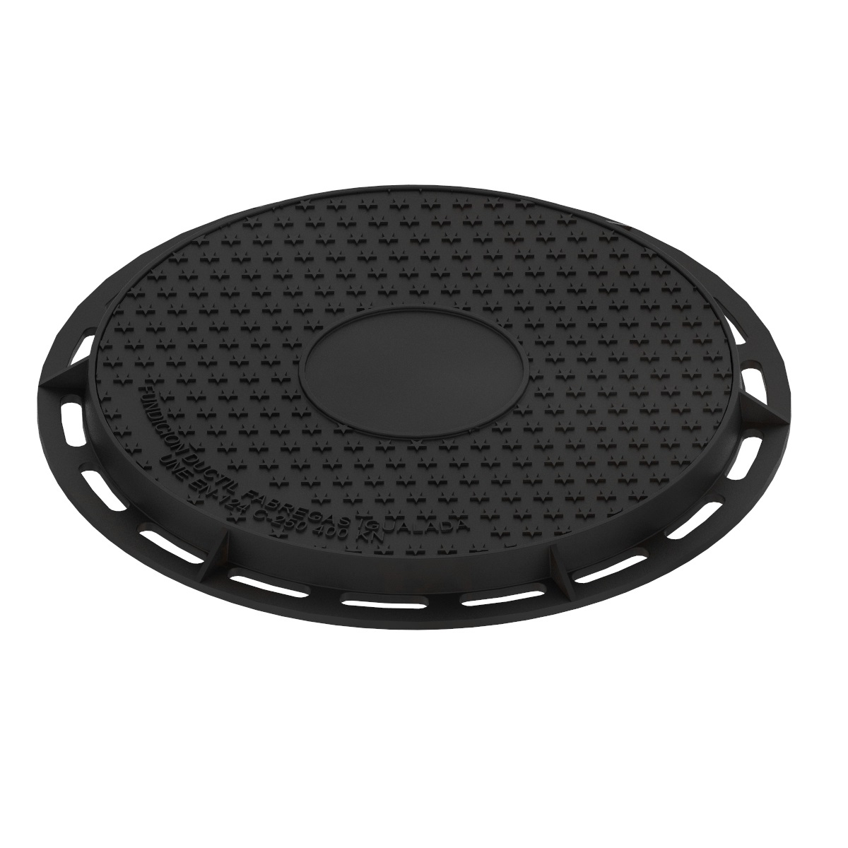 Circular Manhole cover and ring of registry ductile casting B-7DU400