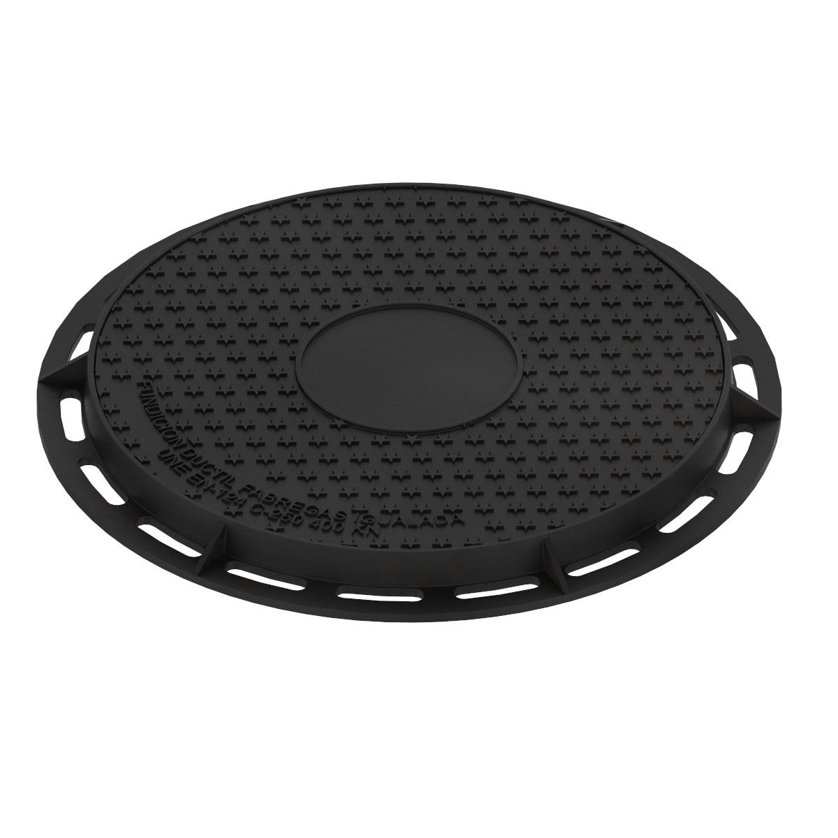 Tapa y aro circular de registro fundicion ductil B-7DU400