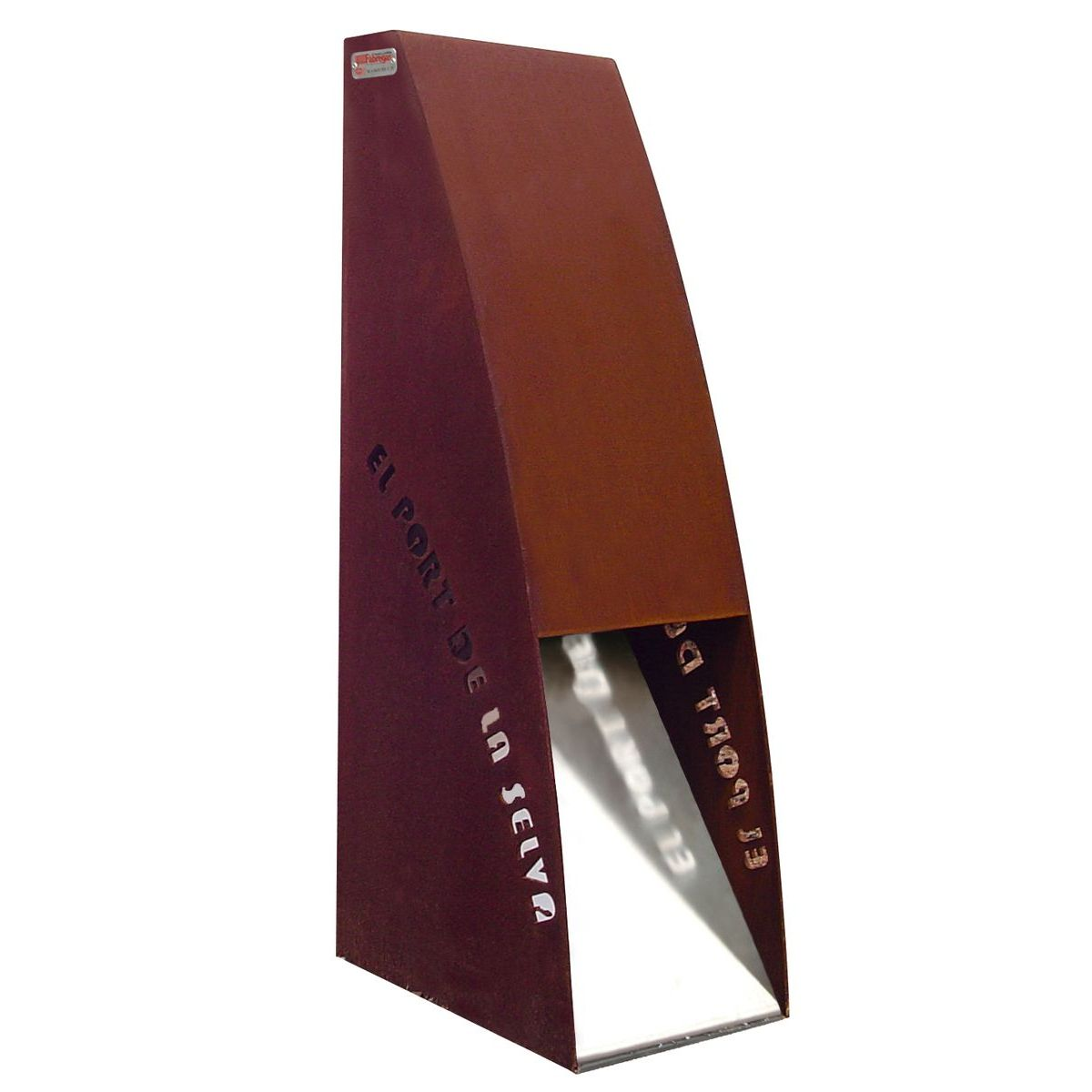 Baliza Escota de acero corten de 125kw - BA-1