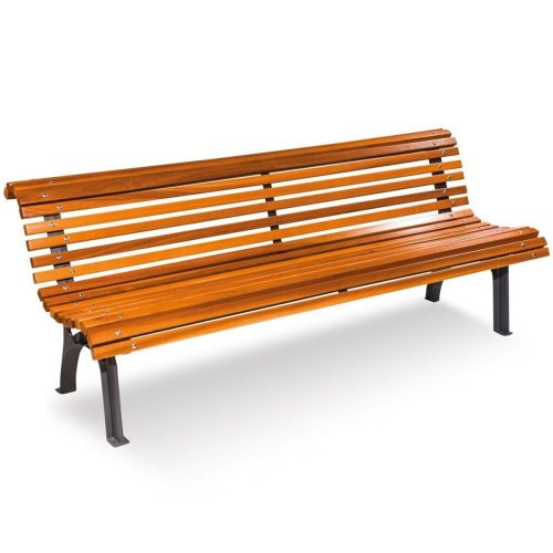 Plaza Real Wood Bench urban furniture to sit down in parks and gardens