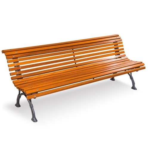 Romantico Wood Bench furniture urban element parks and gardens