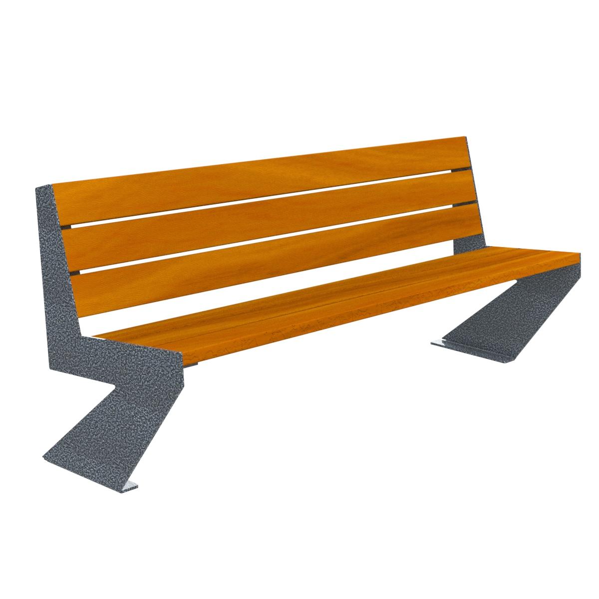 Banco madera zenit patas pintadas mobiliario urbano for Banco para jardin
