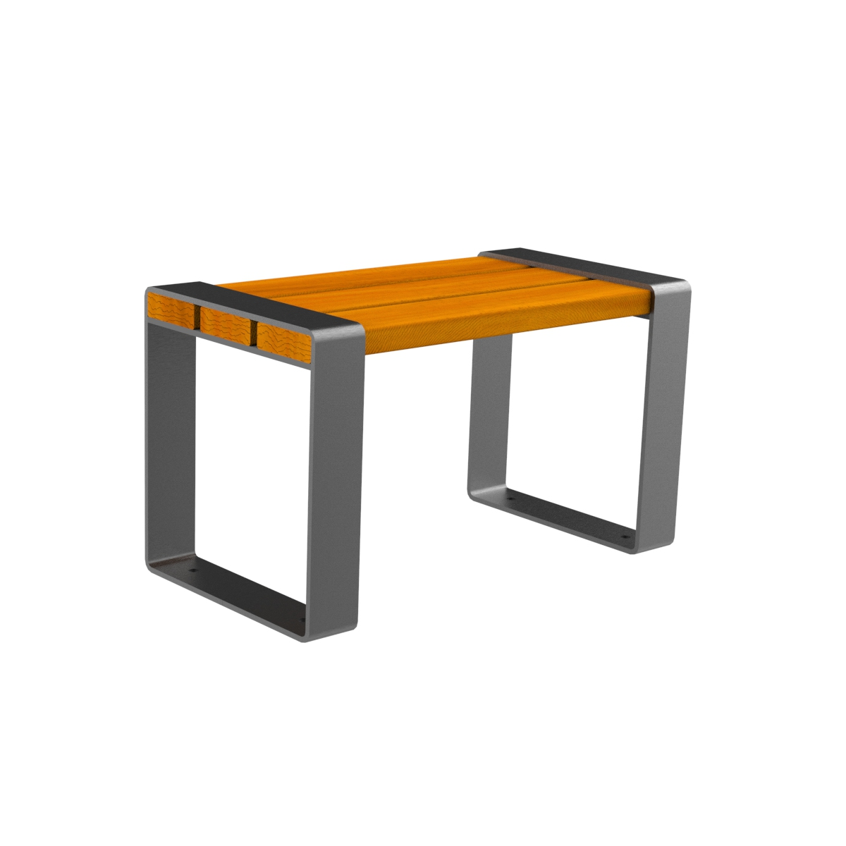 Marina Wood Bench urban furniture without backrest parks and gardens