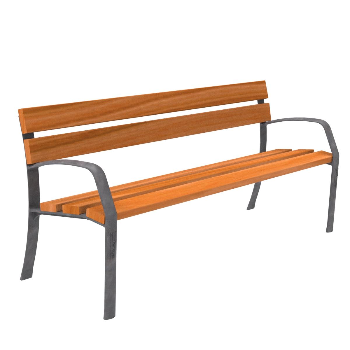 Banco madera similar mobiliario elemento urbano parques y for Columpio de terraza homecenter