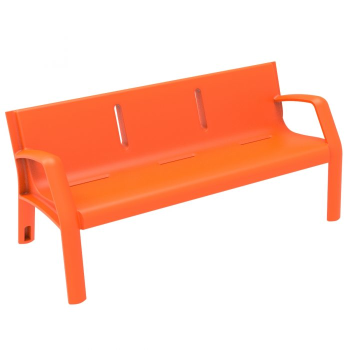 Alvium Plastic Bench urban furniture to sit in parks and gardens