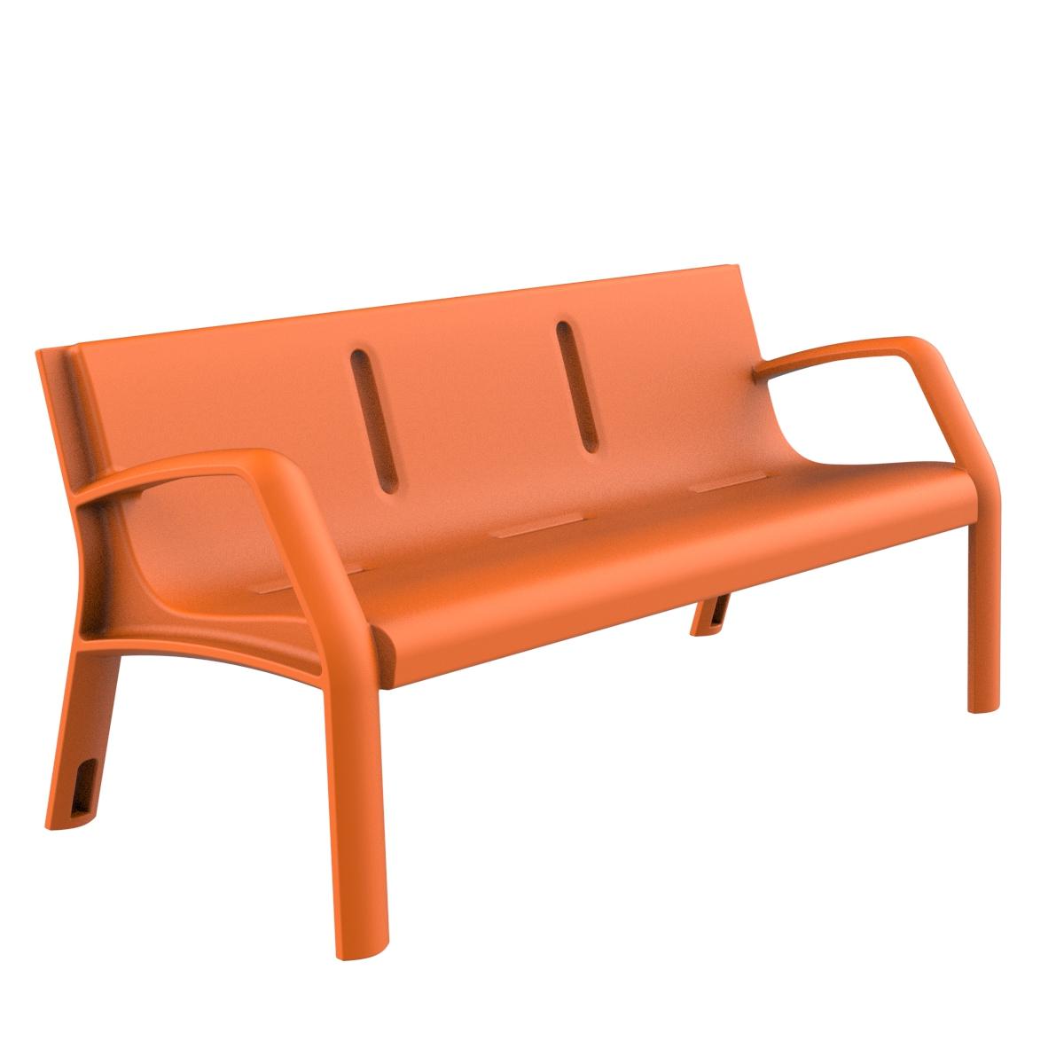 Banco Plastico Alvium Mobiliario urbano para sentarse parques y jardines