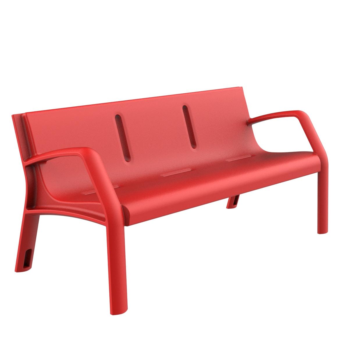 Banco plastico alvium mobiliario urbano para sentarse for Bancos de jardin de plastico