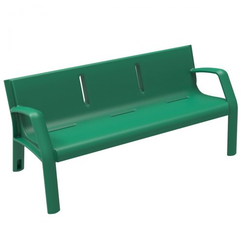 Alvium Plastic Bench urban furniture to sit in parks and gardens