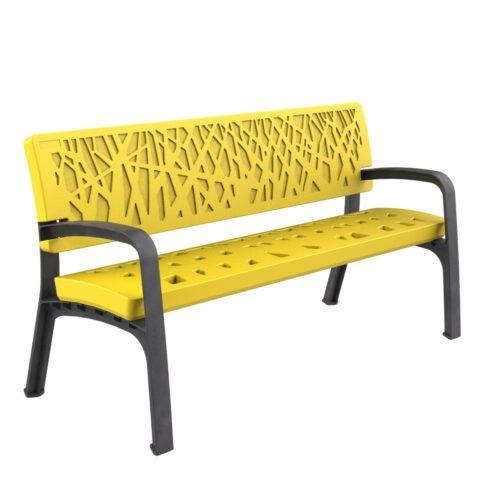 Banc Plastique Maverik Polyéthylène Mobilier urbain pour s'asseoir parcs et jardins