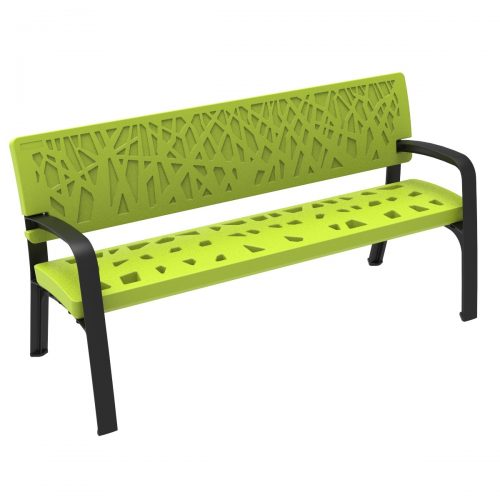 Maverik Polyethylene Plastic Bench urban furniture to sit in parks and gardens