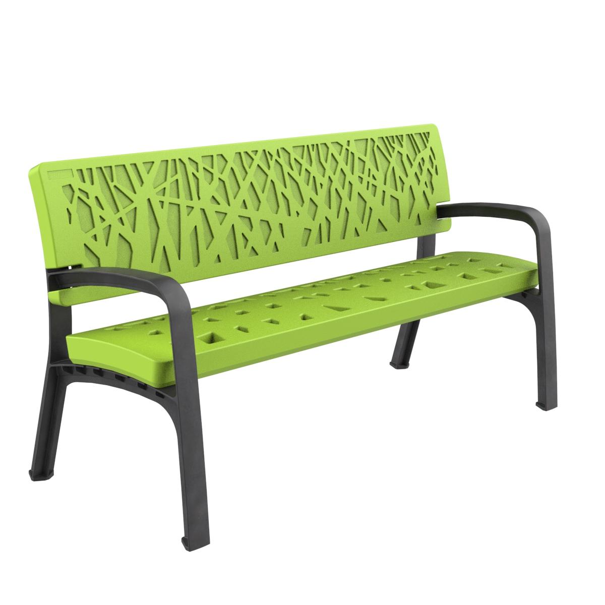 Banco Plastico Maverik Polietileno Mobiliario urbano para sentarse parques y jardines
