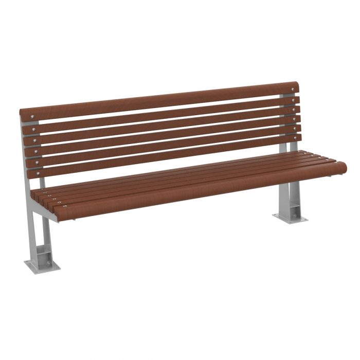 Ronda Wood Bench urbn furniture to sit down in parks and gradens