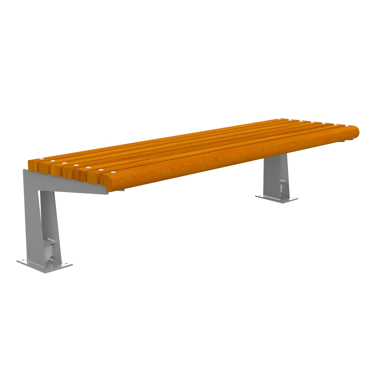 Ronda Wood Bench without backrest urban furniture parks and gardens