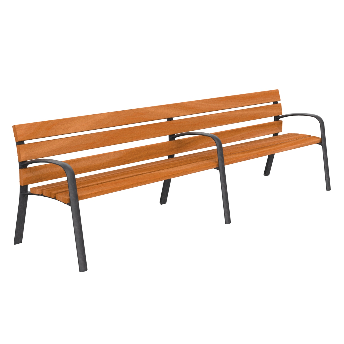 Modo Wood Bench furniture urban element parks and gardens C-106