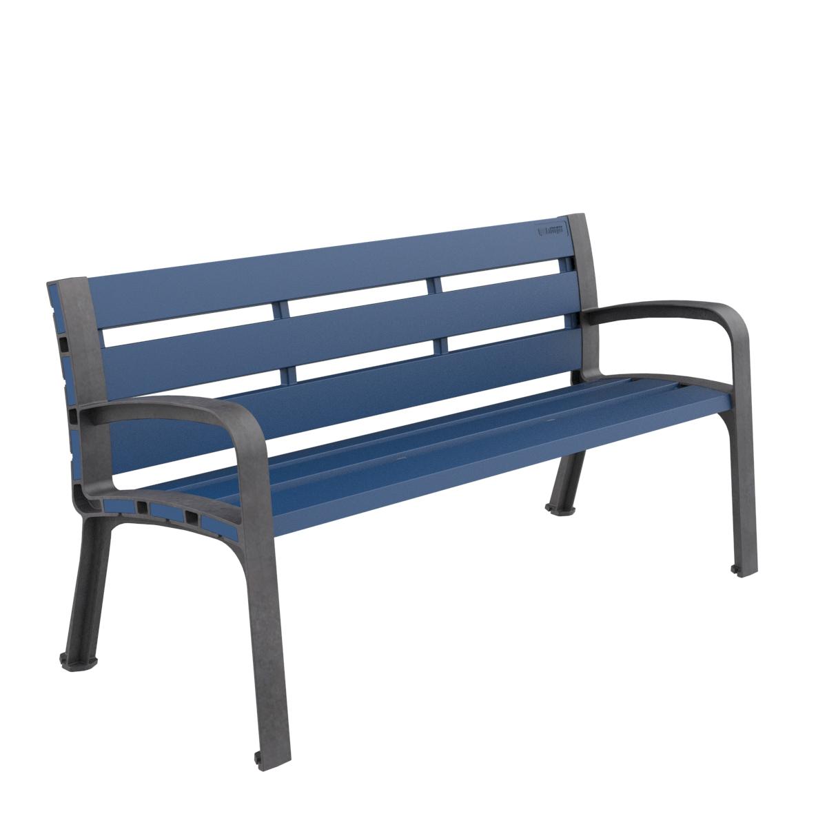 Banco Plastico Modo Polipropileno Mobiliario urbano para sentarse parques y jardines