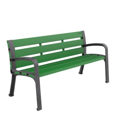Banc Plastique Modo Polypropylène Mobilier urbain pour s'asseoir parcs et jardins