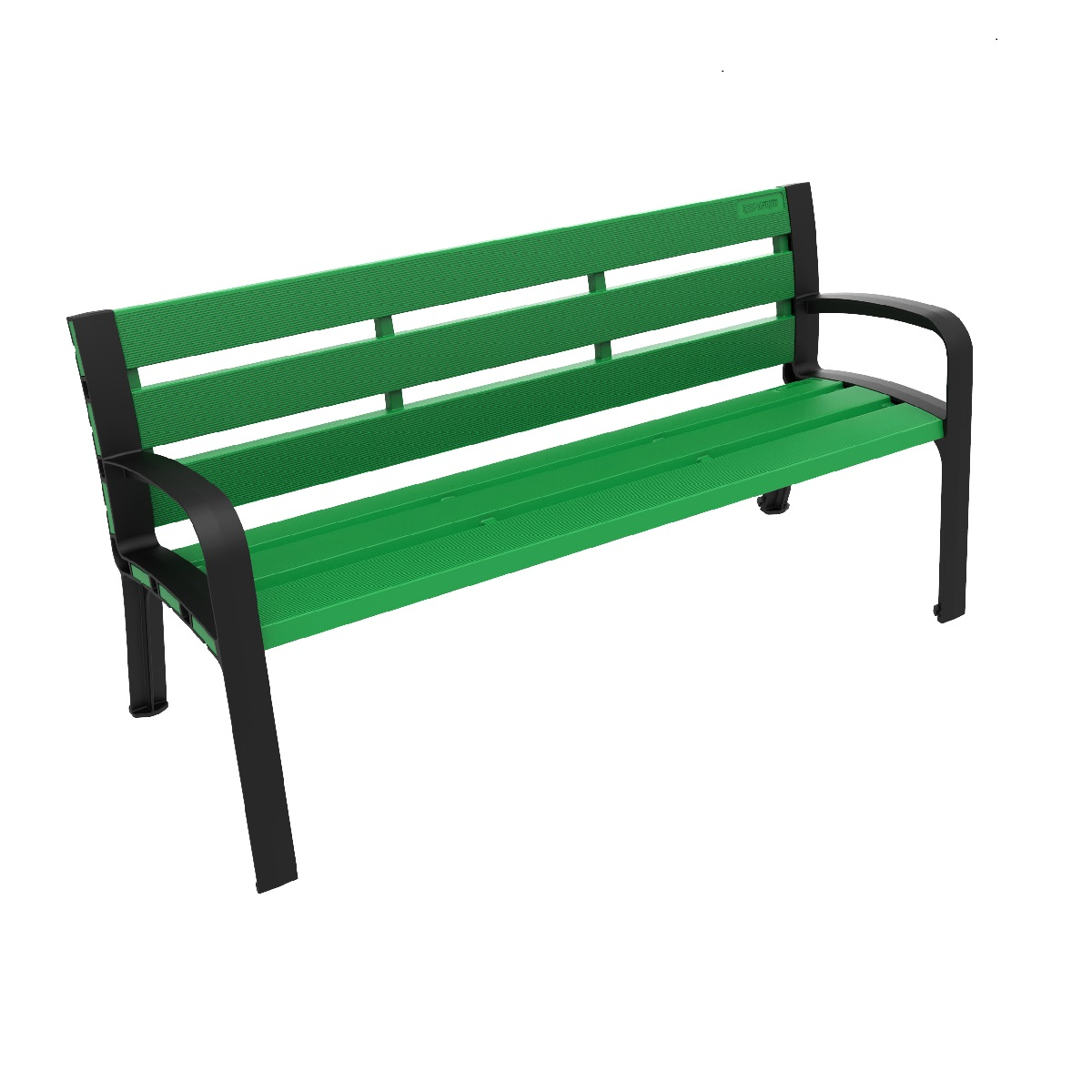 Modo Polypropylene Plastic Bench urban furniture to sit in parks and gardens