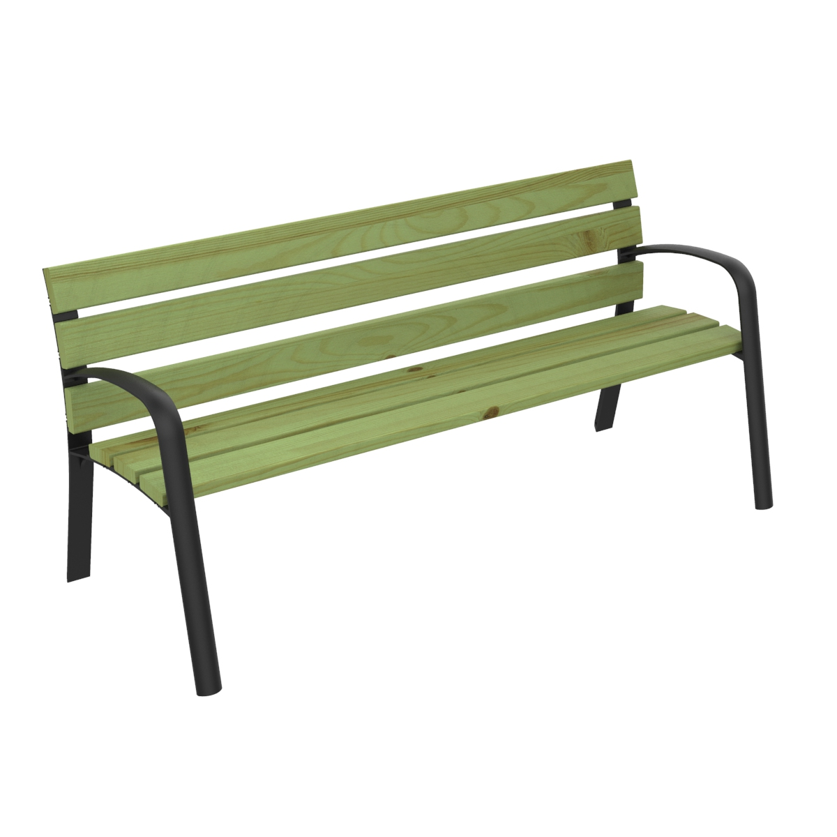 Modo Pinewood Bench urban furniture parks and gardens C-106