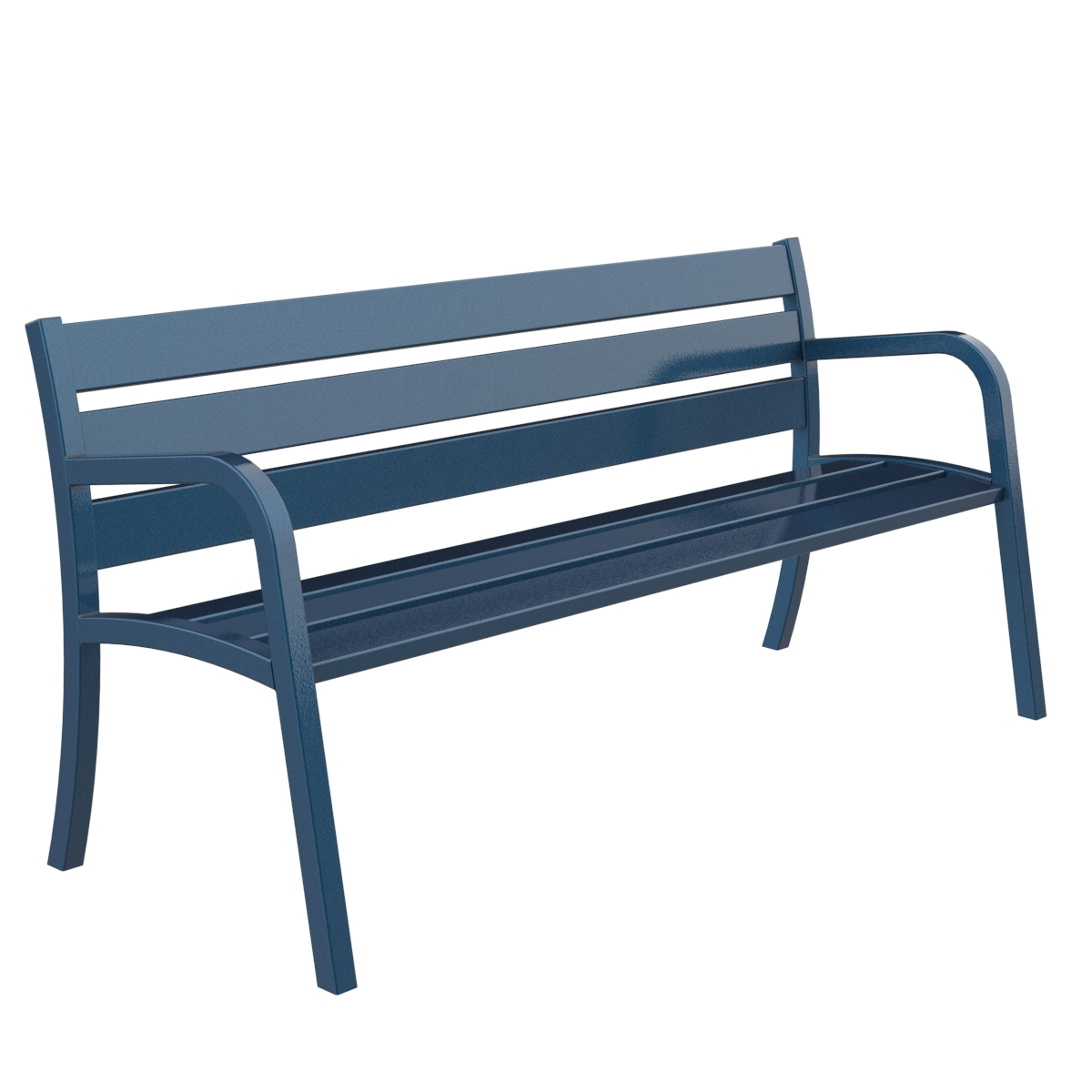 Modo methal bench urban furniture to sit down in parks and gardens