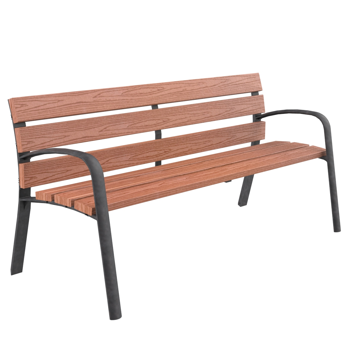 Modo Technique wood bench urban furniture parks and gardens C-106MT