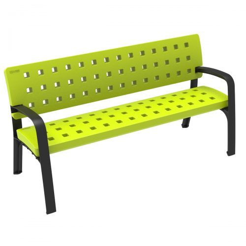 Modo Plastic Bench urban furniture to sit in parks and gardens