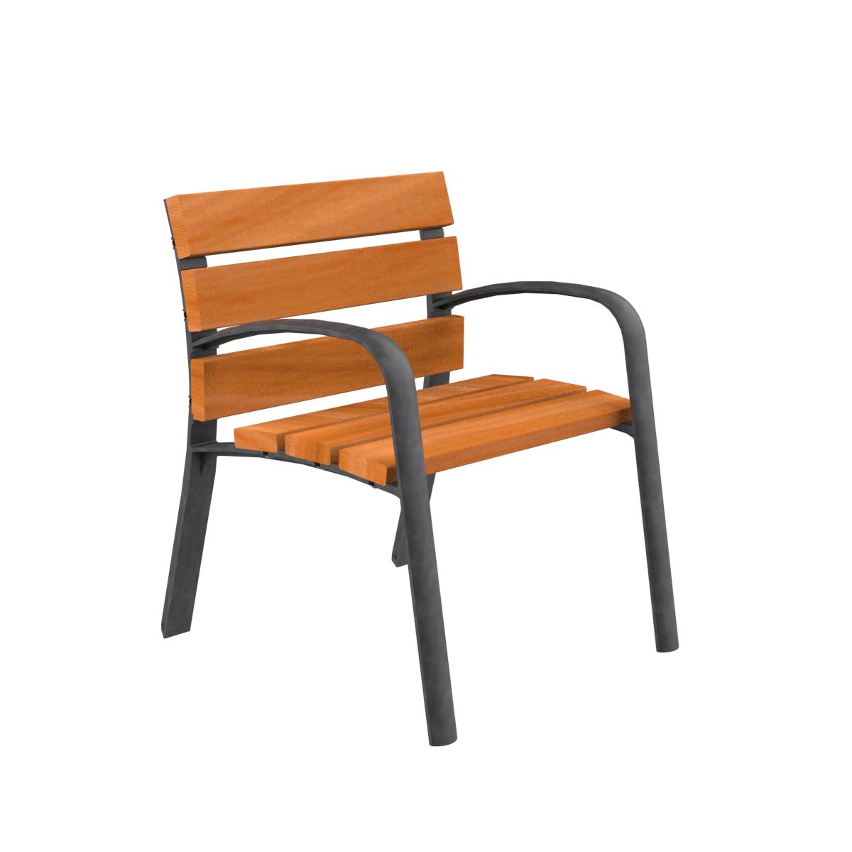 Silla madera modo mobiliario urbano para sentarse parques for Mobiliario de jardin de madera