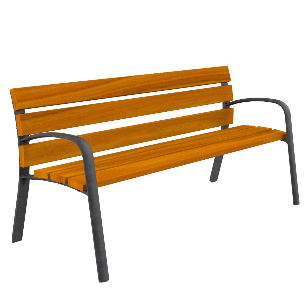Banco madera modo mobiliario urbano para sentarse parques for Banco madera jardin