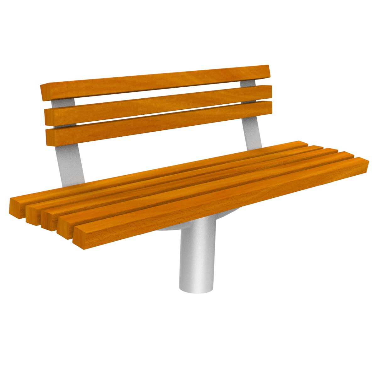 Diana Wood Bench urban furniture to sit down in parks and gardens