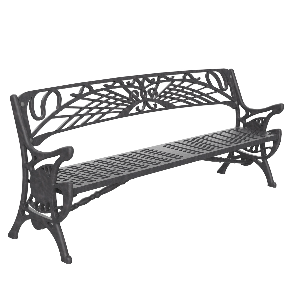 casting Bench Urban furniture for siting down in parks and gardens