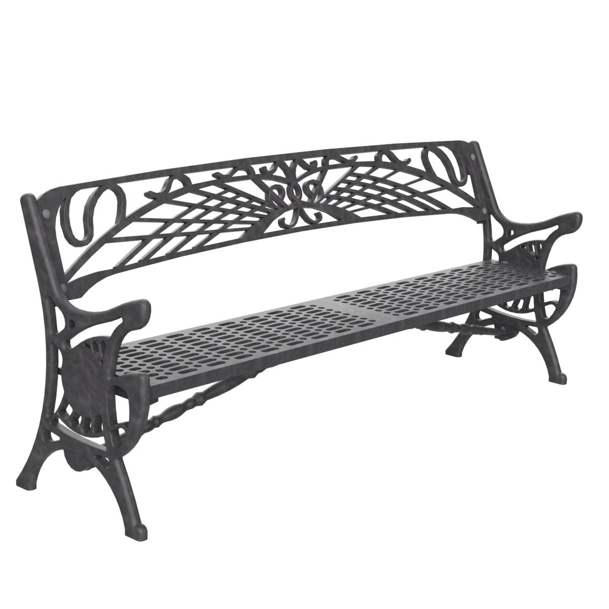 Banco fundicion mobiliario urbano para sentarse parques y jardines - Bancos de jardin de segunda mano ...