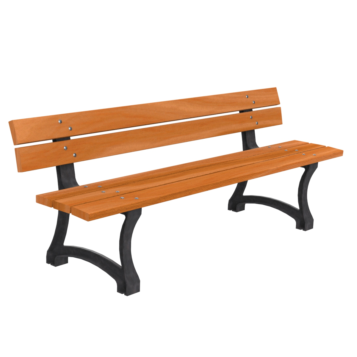 Perpignan Wood Bench furniture urban element parks and gardens