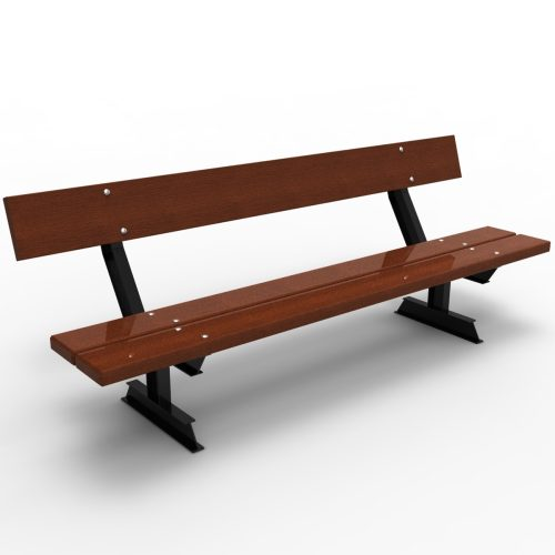 Pilar Wood Bench urban furniture to sit down in parks and gardens