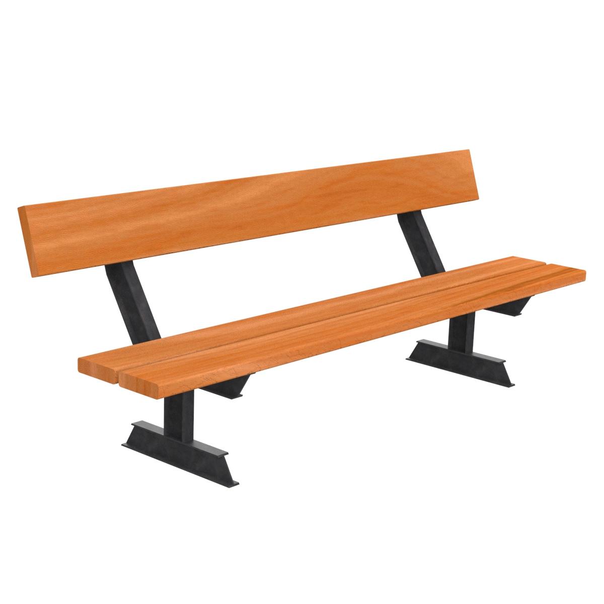 Banco madera pilar mobiliario urbano para sentarse parques for Mobiliario de jardin de madera