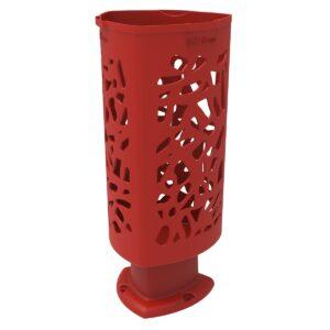 Papelera Scuderia de Polietileno color Rojo RAL 3020 para Calle